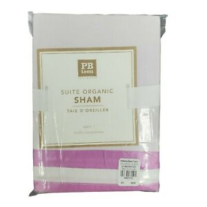 Pottery Barn Teen Suite Organic Sham Orchid & White- Standard NWT New