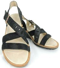 Merrell Womens Wedge Sandals EUR 39 US 8 Sirah Black Suede Strappy Buckle
