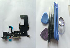 Charging Port Dock Connector Headphone Flex Cable with mic for  black iPhone 5