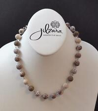 Jilzara Latte Link Adjustabe Polymer Clay Bead Necklace Or Wrap Bracelet Artisan