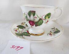 ROYAL GRAFTON  cup & saucer  FUSCHIA gold rims English bone china