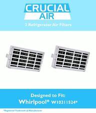 2 Refrigerator Air Filters fit Whirlpool Air1 Fresh Flow # W10311524 AP4538127