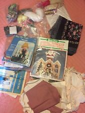 Large Vtg Craft Items Lot Miscellaneous Sewing Mixed Media Art Diy Needlecraft