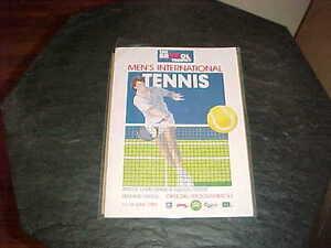1988 The Bristol Trophy Men's International Tennis Program