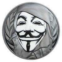 2016 Cook Islands $5 1 oz. Enameled Proof Silver Guy Fawkes Mask In OGP SKU44534
