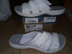 NEW Womens Clarks Brinkley Coast Slide Sandals, size 7           shoes
