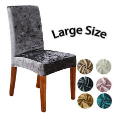 Velvet Fabric Chair Cover Universal Size Slipcovers Seat Chair Soft Covers