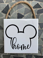 Disney Inspired Mickey Mouse HOME Sign..6x6 wall hanging