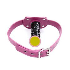 Lucy's Sex Toy, 10cm Pink Mouth Dildo Plug Ball Gag Head Hood Restraints Toy