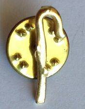 Pretzel Christmas Cane Gold Style Tiny Pin Brooch Rare Vintage (H4)