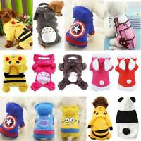 Puppy Dog Fleece Jumpsuit Clothes Apparel Cute Pet Jumpers Hoodie Coats Outfits