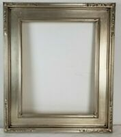 16 x 20 Wood Picture Frame American Silver Leaf Gallery Frame