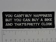 You can't buy happiness.. Club Harley Biker Funny Motorcycle Iron On Small Patch