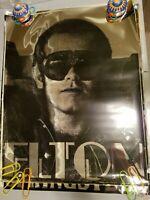 ELTON JOHN 1975 75 ROCK n ROLL VINTAGE MYLAR FOIL NOS POSTER -NICE!