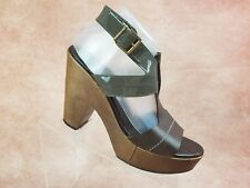Robert Clergerie For Barneys T Strap Heels Size 10 Womens Brown Patent Leather