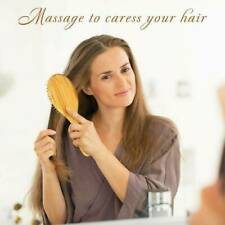 Natural Bamboo Wood Comb Massage Head Scalp Anti-static Hair air Vent Brush tool