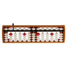 13 Rods Abacus with White Beads Soroban Count Number Math Educational Toy