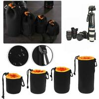 Waterproof Nylon Lens Bag Protector Case Pouch S M L XL For Digital SLR Cameras