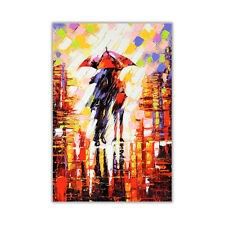 Abstract Winter Nights Umbrella on Poster Prints Wall Art Decoration Picture