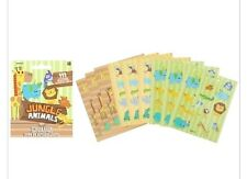 111 Jungle Animals Stickers Party Favors Teacher Supply book 9 sheets lion hippo