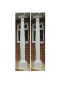 2 x GRP Fiberglass Pillars Column Columns Round Porch Posts Fluted Column