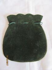 BOTTIGLIA Nuovo di zecca in velluto verde con coulisse Pouch/Borsa 9 x 13 cm