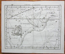 Flamsteed Astronomy Original Celestial Map Hydra - 1776