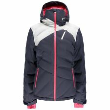 SPYDER BREAKOUT DOWN Gray Pink WATERPROOF Ski Snowboard Jacket Coat 8 Womens