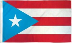 Light Blue Flag of Puerto Rico 3x5 ft Puerto Rican PR State Star US 100D