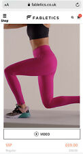 Fabletics Trinity pink leggings. Extra shaping Size M Regular RRP £89 (SOLD OUT)