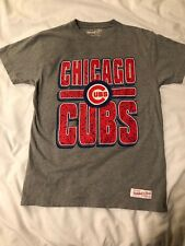 Mitchell & Ness TeamChicago Cubs MLB Name & LOGO Vintage Men's T-Shirt Size S