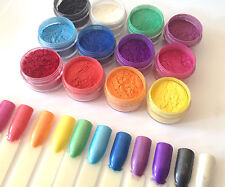 """RAINBOW"" Nail Additives Mica Pigment Powder Set 12 for nail systems gel etc"