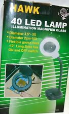 40 LED Reading Lamp-Illunimation Magnifier Glass 5X/10X, flexible goose neck.