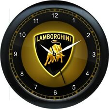 "12"" Lamborghini Wall Clock Garage Work Shop Gift Man Cave Rec Room"