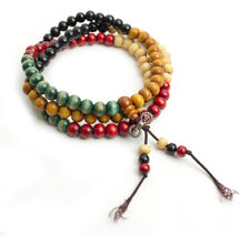 Mala Tibetana Collar Pulsera 108 cuentas con dorge rosario Tibetano Colores