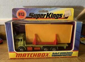 Matchbox Super Kings K-13 D.A.F.BUILDING TRANSPORTER In Box Mint