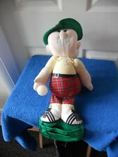 TWO FACED ANGRY HAPPY GOLF GOLFER REMOTE CONTROL HOLDER