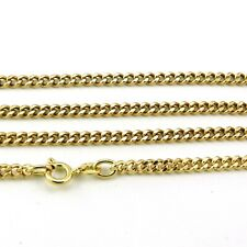 """10k Yellow Gold Curb Chain, 23"""", 3.1mm, 15.5 grams (estate necklace) #00019774"""