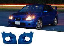 NEW For 06-07 IMPREZA WRX STI FOG LAMPS LIGHT BLUE BEZEL BUMPER COVER