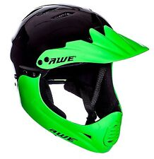 AWE® BMX Full Face Helmet Black Green Medium 54-58cm