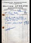"BAZOCHES-en-DUNOIS (28) EPICERIE & VINS en gros ""Olivier AVELINE"" en 1931"