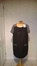 Women's Mamas & Papas Maternity Spot Print Shift Dress Size 12 Polkadot Nw8