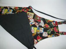 RED Vintage 1950s 1960s Childs Fancy Apron Cartoon Characters