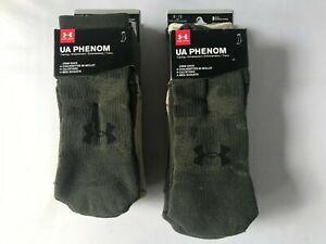 UNDER ARMOUR UA Phenom Training Crew Socks 3Pack - Men 4-8   8-12 Women 6-9 9-12