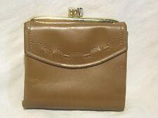 pre-owned PRINCESS GARDNER Cowhide wallet coin purse woman ladies brown gold