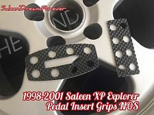 RARE 98-01 SALEEN XP8 XP6 EXPLORER PEDAL GRIP INSERTS SET FORD NOS MUSTANG