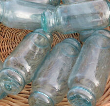 """Japanese Glass FLOATS 5-6"""" ROLLING PIN Lot-5 Ocean Fishing Decor ROLLERS Vntg"""