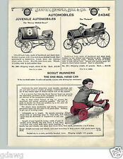 1924 PAPER AD Barney Oldfield Racer Pedal Car Packard Irish Mail Hand Car Toy