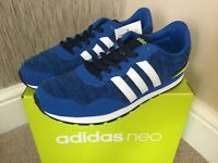 ADIDAS NEO BLUE UNISEX JUNIOR V JOG K TRAINERS SIZE UK 5.5 / EU 38.5 BNIB