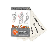 Ust Knot Cards Pocket How To Guide for Survival Kit Bushcraft Backpack Camping